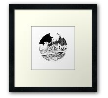 Dinosaur in the Bay of Fundy Framed Print