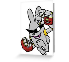 Robotic Arms on a Rowdy Rabbit! Greeting Card