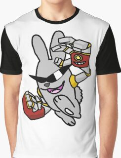 Robotic Arms on a Rowdy Rabbit! Graphic T-Shirt