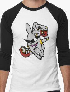 Robotic Arms on a Rowdy Rabbit! Men's Baseball ¾ T-Shirt