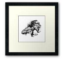 The King Drogba Framed Print
