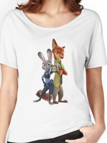 Nick and Judy Badge Women's Relaxed Fit T-Shirt