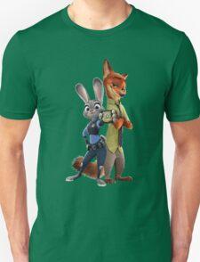 Nick and Judy Badge Unisex T-Shirt