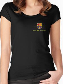 FCB Barcelona  Women's Fitted Scoop T-Shirt