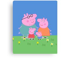 Peppa Family Canvas Print
