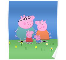 Peppa Family Poster