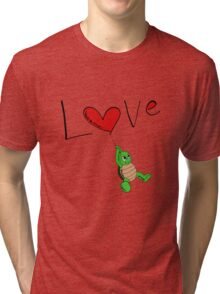Turtle Red Heart Tri-blend T-Shirt
