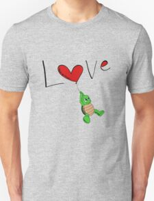 Turtle Red Heart Unisex T-Shirt