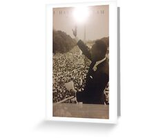 martin Luther king Jr. Greeting Card