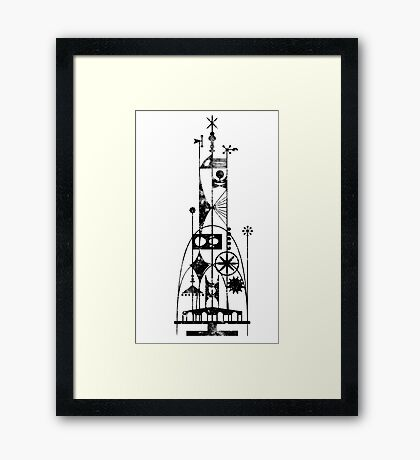 64/65 World's Fair - Tower of the Four Winds Framed Print