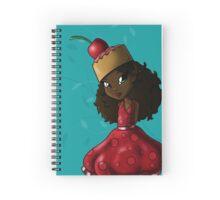 Sweet Cherry Cake Iman Spiral Notebook