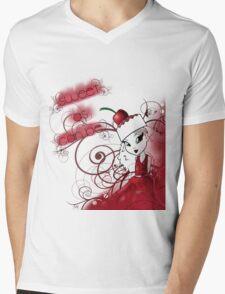 Sweet Cherry Cake Iman Mens V-Neck T-Shirt