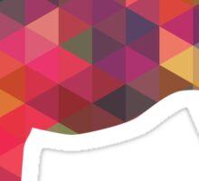 Scottish Deerhound Colorful Geometric Pattern Silhouette - Multi Sticker