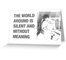 The Silent World Greeting Card