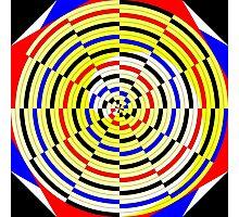 Yellow Spirals Photographic Print
