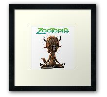 Zootopia 3D animation movie Framed Print