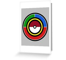 Pokemon Starters Greeting Card
