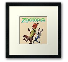 judy hoops and nick wilde from zootopia Framed Print