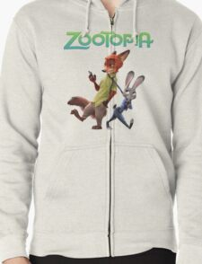 judy hoops and nick wilde from zootopia T-Shirt