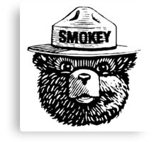 Smokey The Bear Canvas Print