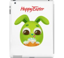 Happy Easter Card with Easter Rabbit iPad Case/Skin
