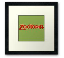 Zootopia  Framed Print