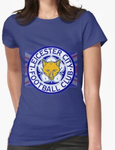 Leicester City F.C. Flag Womens Fitted T-Shirt