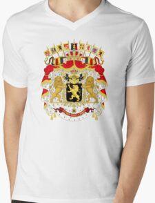 Great Coat of Arms of Belgium Mens V-Neck T-Shirt