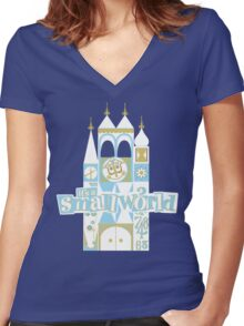 it's a small world! Women's Fitted V-Neck T-Shirt