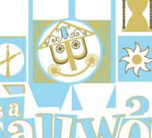 it's a small world! Sticker