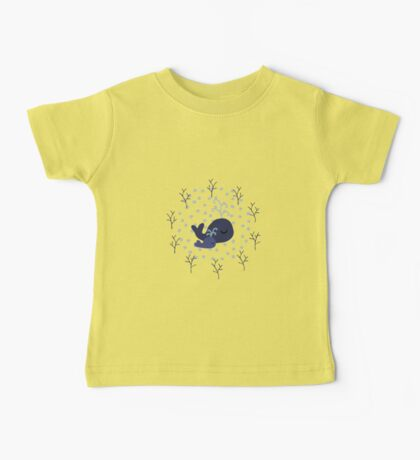 Playful Whales Drawing - Seamless Pattern Baby Tee
