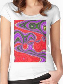 Colorful Trip Women's Fitted Scoop T-Shirt