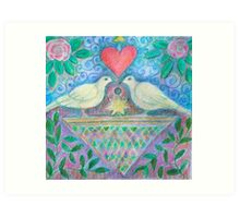 Love birds Illustration Art Print