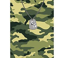 Literal Dog Tags Photographic Print