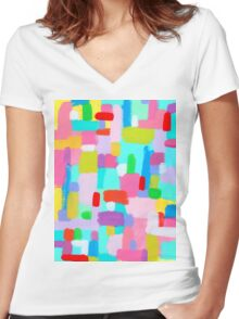 BUBBLEGUM DREAM Women's Fitted V-Neck T-Shirt