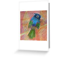 Happy little bird drawing Greeting Card