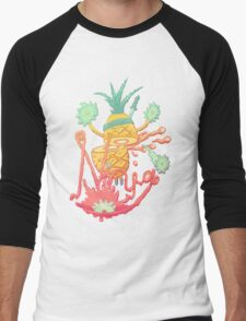 Ninja pineapple Men's Baseball ¾ T-Shirt