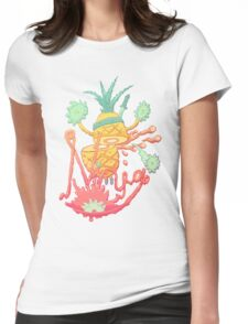 Ninja pineapple Womens Fitted T-Shirt