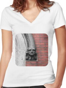 Stone-Faced  Women's Fitted V-Neck T-Shirt