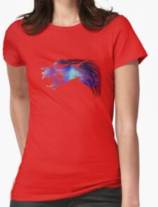 Galaxy Wolf design Womens Fitted T-Shirt