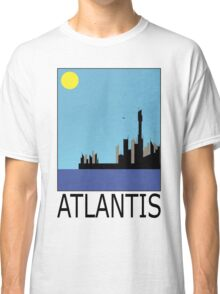 Stargate SG1 - Retro Travel Poster (Atlantis) Classic T-Shirt