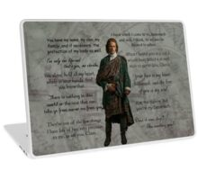 Outlander/Jamie Fraser quotes and thoughts Laptop Skin