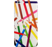 color pencil fun :D iPhone Case/Skin