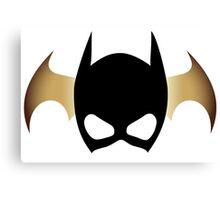 Batgirl Mask over bat Canvas Print