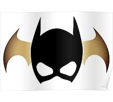 Batgirl Mask over bat Poster