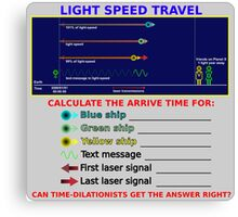 Science - Light Speed Travel Canvas Print