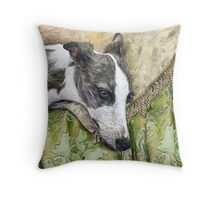 Whippet in Repose Throw Pillow