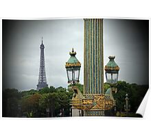 Eiffel Tower seen from Place de la Concorde Poster