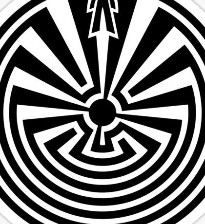 Man in the Maze, Journey through life, I'itoi, Papago Sticker