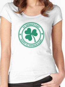 St Patrick's Day Women's Fitted Scoop T-Shirt